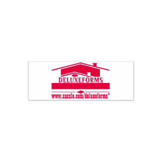 Red Roof Self Inking Rubber Stamp
