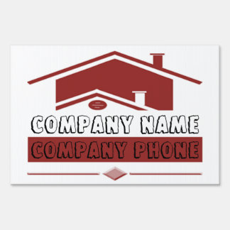 Red Roof Yard Sign