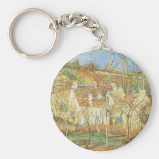 Red Roofs, Corner of a Village by Camille Pissarro Keychain