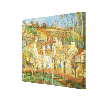 Red Roofs, Corner of a Village, Winter by Pissarro Canvas Print