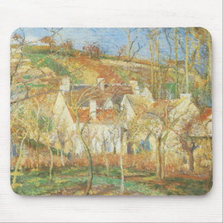 Red Roofs, Corner of a Village, Winter by Pissarro Mouse Pad