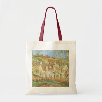 Red Roofs, Corner of a Village, Winter by Pissarro Tote Bag