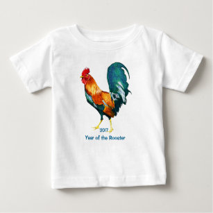 02fb5d5f9972 Red Rooster 2017 Chinese New Year Baby Shirt