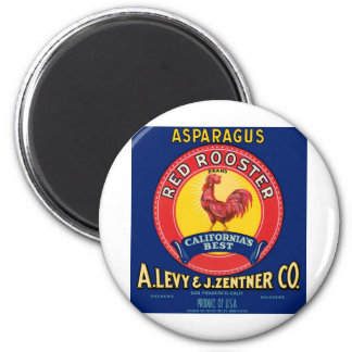 Red Rooster 2 Inch Round Magnet