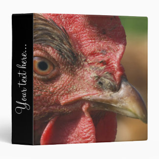 Red rooster 3 ring binder