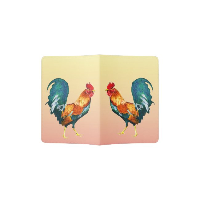Red Rooster Bird Passport Holder