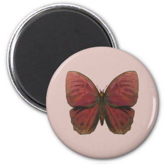 Red Rooster Butterfly Fridge Magnet