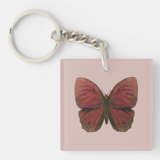 Red Rooster Butterfly Keychain