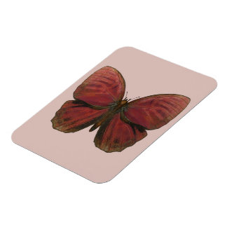 Red Rooster Butterfly Magnet