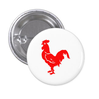 Red Rooster Pinback Buttons