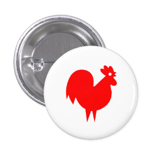 Red Rooster Pinback Button