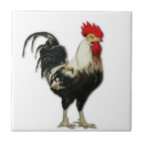 Red Rooster Chicken Customize Tile