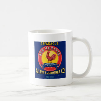 Red Rooster Classic White Coffee Mug