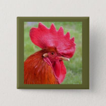 Red Rooster Coutry Living Button