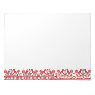 Red Rooster cross-stitch Memo Note Pad