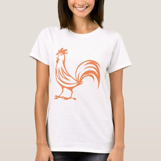 Red Rooster Crowing T-Shirt