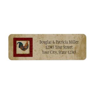 Red Rooster Return Address Labels