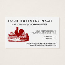 Red Rooster Old Farmhouse Vintage Business Card
