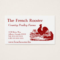 Red Rooster Poultry Farm Dairy Business Card