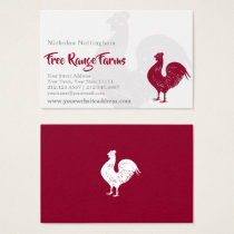 Red Rooster Poultry Farm or Restaurant Business Card