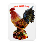 Red Rooster Rectangular Photo Magnet