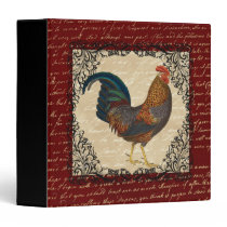Red Rooster Vintage Binder