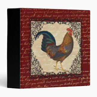 Red Rooster Vintage Binder