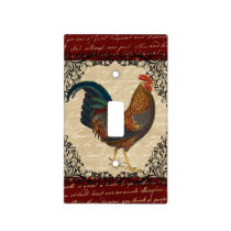 Red Rooster Vintage Light Switch Cover