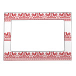 Red Roosters cross-stitch Russian Pattern Photo Frame Magnets