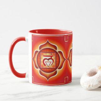 Red Root Chakra Pattern Print Design Mug