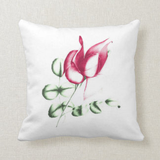 Red Ros on Polyester Cushion 41 cm x 41 cm Pillow