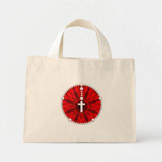 Red Rosary Dream Catcher Mini Tote Bag