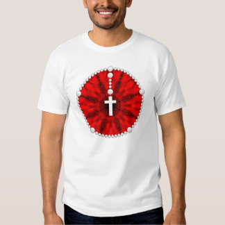 Red Rosary Dream Catcher T Shirt