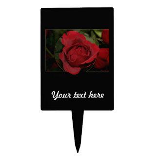 Red Rose #1 Cake Picks
