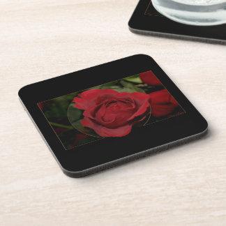 Red Rose #1 Beverage Coaster