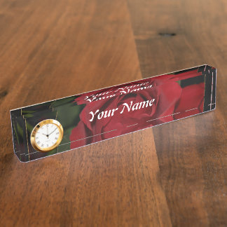 Red Rose #1 Name Plates