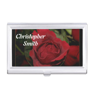 Red Rose #1 Business Card Holders
