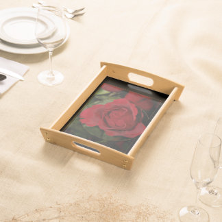 Red Rose #1 Serving Tray