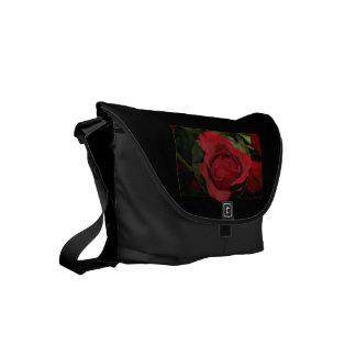 Red Rose #1 Small Messenger Bag