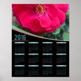 Red rose 2016 poster calendar
