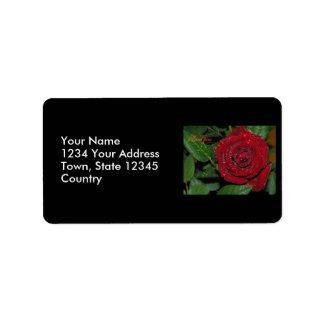 Red Rose #2 Address Label