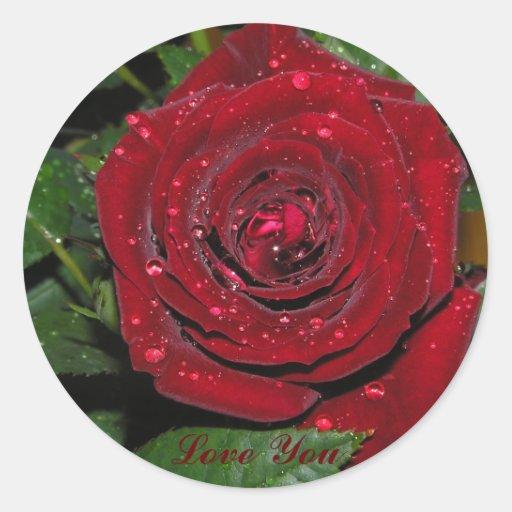 Red Rose #2 Classic Round Sticker