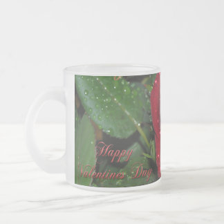 Red Rose #2 Frosted Glass Coffee Mug