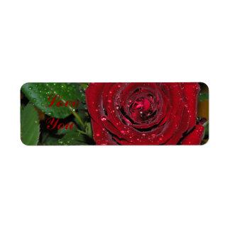 Red Rose #2 Label