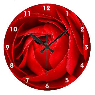 RED ROSE 2 LARGE CLOCK