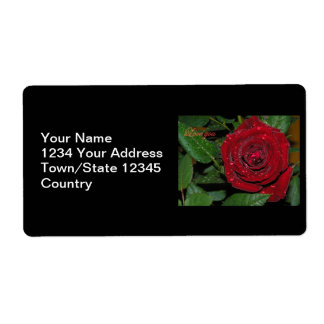 Red Rose #2 Shipping Label
