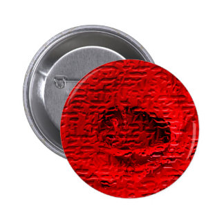 Red Rose Abstract Button