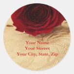 Red Rose Address Sticker