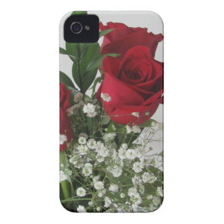 Red Rose and Babys Breath iPhone 4/4s Case