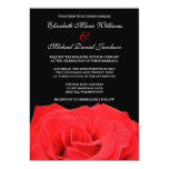 Red Rose and Black Wedding Invitations Personalized Invitations